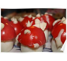 Eggs mushrooms Poster