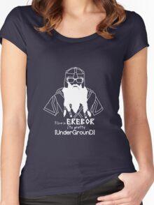 Hipster Dwarf (Dark Background) Women's Fitted Scoop T-Shirt