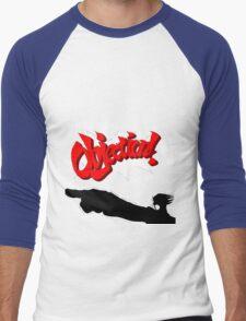 Ace Attorney OBJECTION! Men's Baseball ¾ T-Shirt