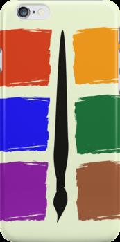 Six Colour Pallet Phone Case by CreativeEm