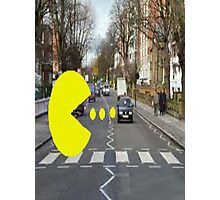 pac-man abbey road Photographic Print