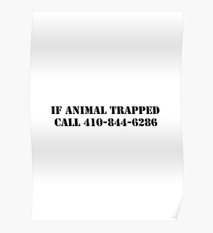 The Wire - If Animal Trapped Poster