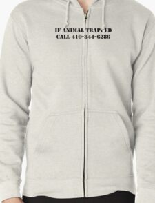 The Wire - If Animal Trapped Zipped Hoodie