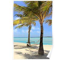 Hammock - Palm Trees - Bora Bora Poster