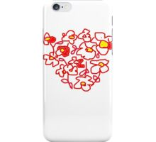 RED WHITE FLOWER COLLECTION iPhone Case/Skin