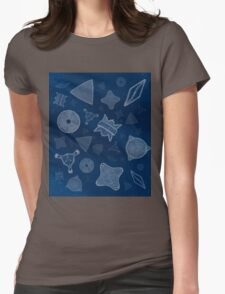 Diatoms - microscopic sea life Womens Fitted T-Shirt
