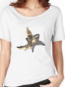 Putin riding a shark Women's Relaxed Fit T-Shirt