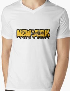 New York  Mens V-Neck T-Shirt
