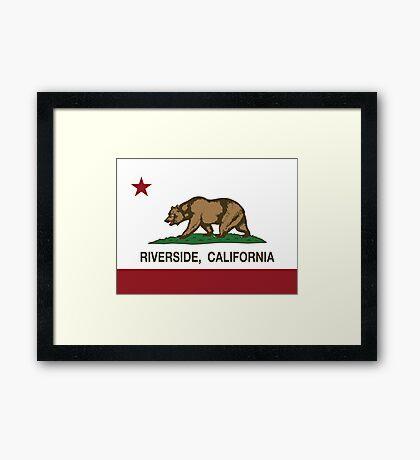 Riverside California Republic Flag Framed Print