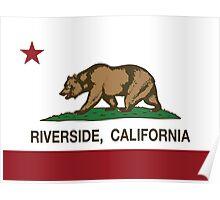 Riverside California Republic Flag Poster