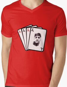 Kid Ink Alumni Cards Mens V-Neck T-Shirt