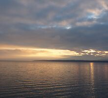 SUNRISE over LAKE LEMAN ll by Marilyn Grimble
