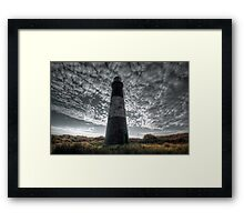 Spurn Lighthouse and Clouds  Framed Print