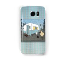 Travel Trailer & Sandhill Crane  Samsung Galaxy Case/Skin