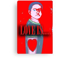 LOVE IS 12 Canvas Print