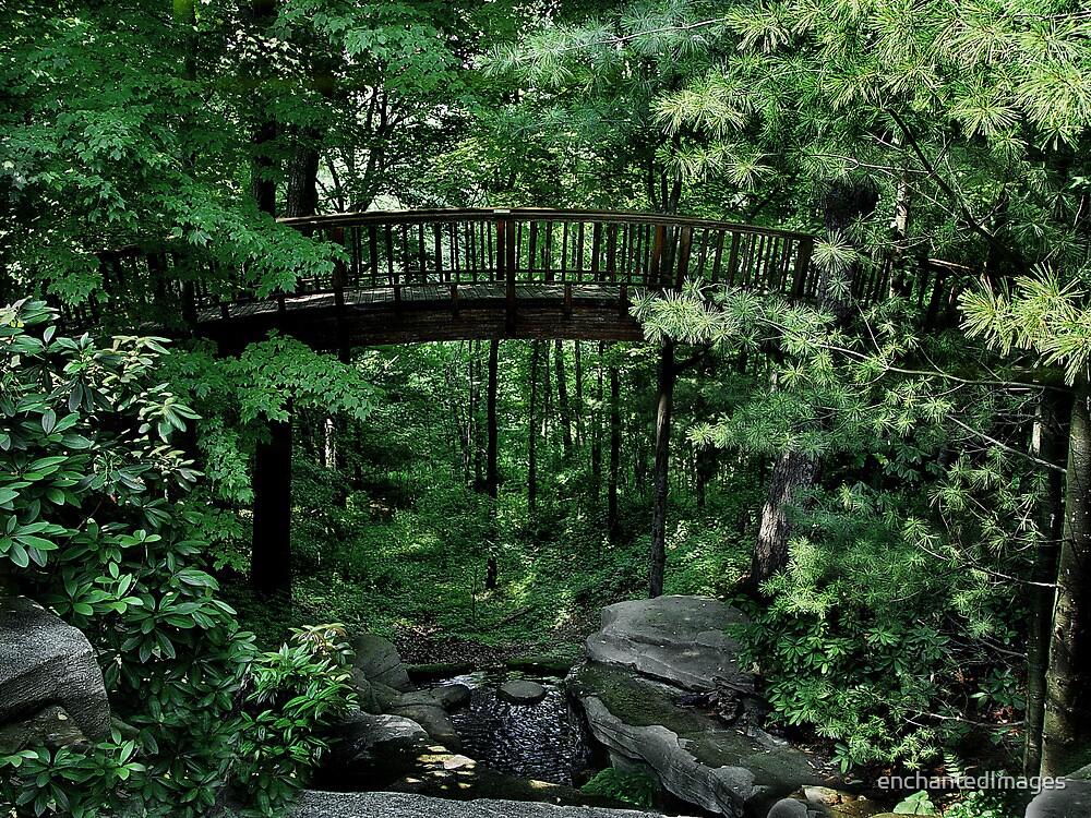 Forest Garden Bridge by enchantedImages