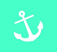 Mint Anchor by M Studio Designs