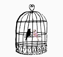 Floral Birdcage  Womens Fitted T-Shirt