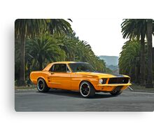 1968 Ford Mustang Coupe Canvas Print