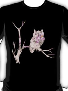 Floral Owl on Branch T-Shirt