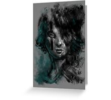 Ink and Color girl Greeting Card