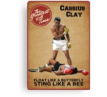 Cassius Clay - The Greatest Canvas Print