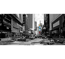 Times Square Under Construction Photographic Print