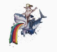 Bucking Sharkaroo Puking Rainbow One Piece - Short Sleeve