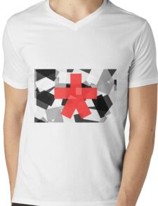 Red Star Mens V-Neck T-Shirt