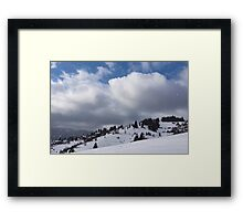 Sunny Snowstorm - a Mountain View to Remember Framed Print
