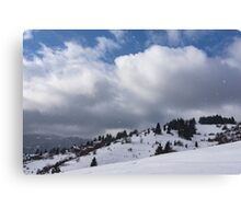 Sunny Snowstorm - a Mountain View to Remember Canvas Print