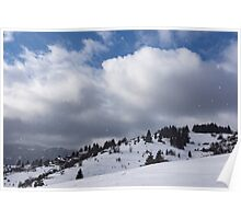 Sunny Snowstorm - a Mountain View to Remember Poster
