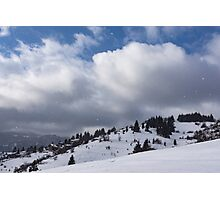 Sunny Snowstorm - a Mountain View to Remember Photographic Print