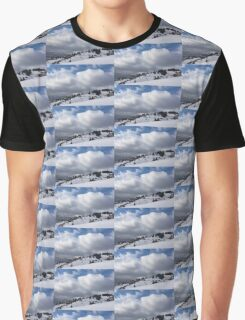 Sunny Snowstorm - a Mountain View to Remember Graphic T-Shirt