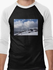 Sunny Snowstorm - a Mountain View to Remember Men's Baseball ¾ T-Shirt
