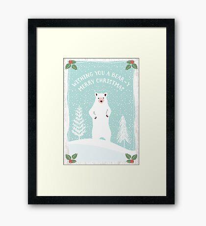 Bear-y Christmas Framed Print