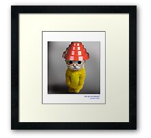 """CATS IN HATS """"Are We Not Kittens?"""" Framed Print"""
