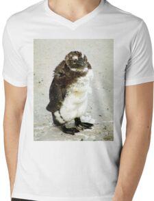 Baby South African Penguin Moulting Mens V-Neck T-Shirt