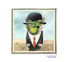 "CATS IN HATS ""Son of Man(x)"" Photographic Print"