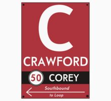 Retro CTA sign Crawford Kids Tee