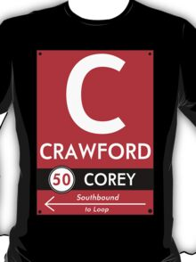 Retro CTA sign Crawford T-Shirt