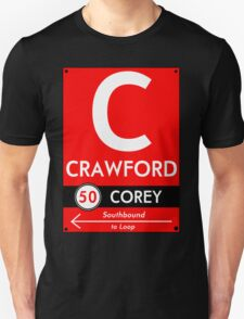 Retro CTA sign Crawford Unisex T-Shirt