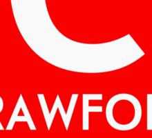 Retro CTA sign Crawford Sticker