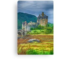 Eilean Donan Watercolour effect 2 Canvas Print