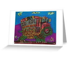 Turtle Bus Greeting Card