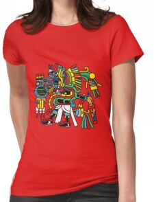 Ehecatl Quetzalocoatl Womens Fitted T-Shirt