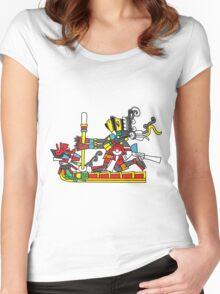 Ome Acatl Tezcatlipoca Women's Fitted Scoop T-Shirt