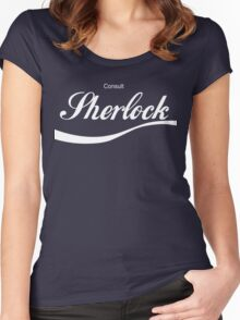 Consult Sherlock Women's Fitted Scoop T-Shirt