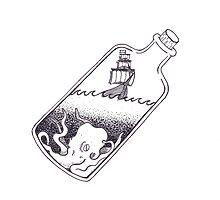 Ship In A Bottle by Marissa Falk-Varcoe