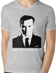 Did You Miss Me? (Dark) Mens V-Neck T-Shirt